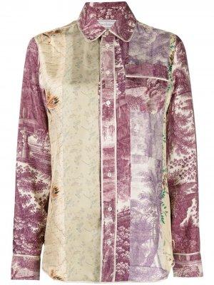 Рубашка с принтом Pierre-Louis Mascia. Цвет: фиолетовый