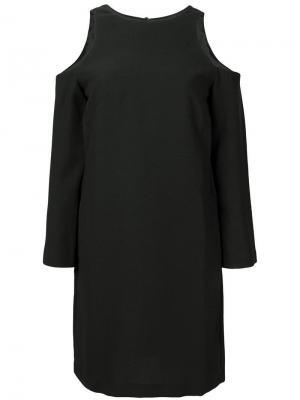 Платье с вырезами на плечах 8pm. Цвет: черный