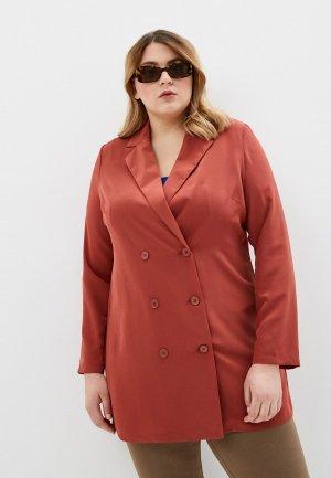 Пиджак Vero Moda Curve. Цвет: коралловый
