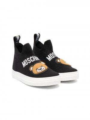 Слипоны Teddy Bear Moschino Kids. Цвет: черный