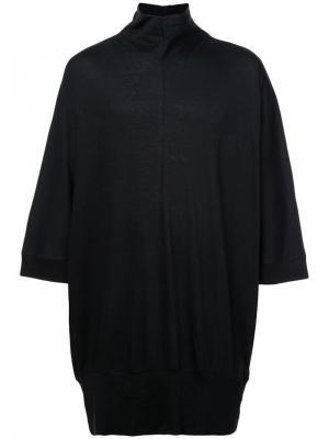 Свободная рубашка с высоким воротом Nude. Цвет: черный