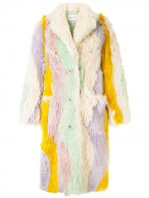 Пальто со вставками Sandy Liang. Цвет: разноцветный