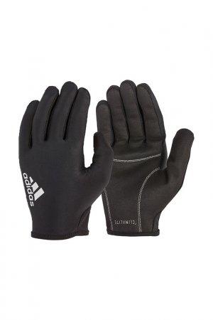 Перчатки для фитнеса, пальцы ADIDAS. Цвет: серый
