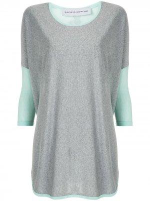 Блузка в рубчик Gloria Coelho. Цвет: зеленый