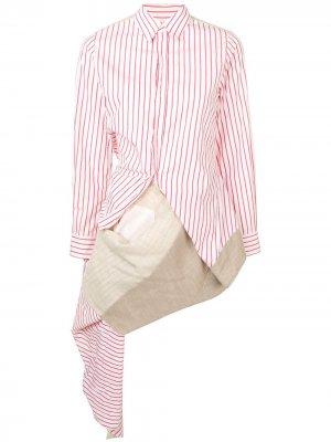 Рубашка в полоску Comme Des Garçons Pre-Owned. Цвет: красный