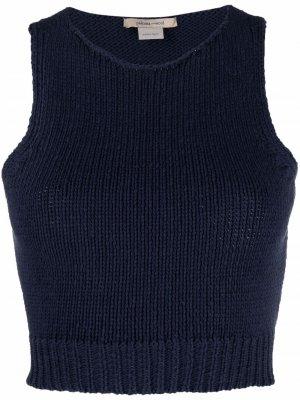 Knitted organic cotton tank top Paloma Wool. Цвет: синий