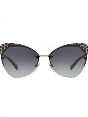 Cat eye frame sunglasses Bulgari. Цвет: черный