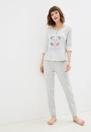 Пижама NYMOS. Цвет: серый