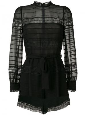 Embellished playsuit Zimmermann. Цвет: черный
