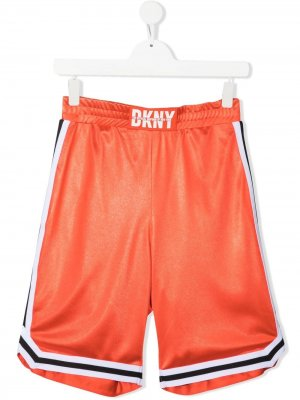 Баскетбольные шорты с логотипом Dkny Kids. Цвет: оранжевый