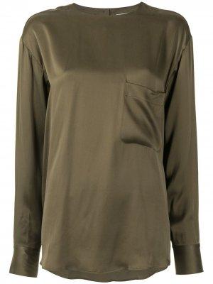 Блузка Jeunelle с длинными рукавами Equipment. Цвет: зеленый