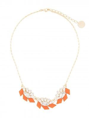 Колье с кристаллами Anton Heunis. Цвет: оранжевый