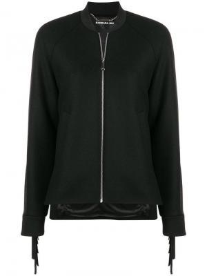 Куртка с бахромой Barbara Bui. Цвет: черный