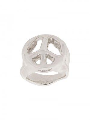 Peace ring AMBUSH. Цвет: серебристый