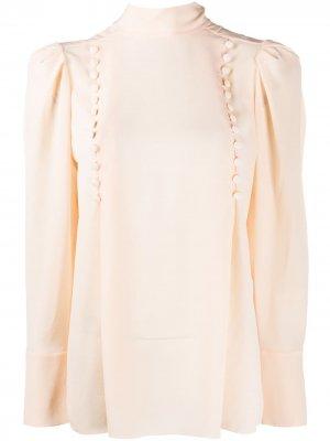 Блузка с декоративными пуговицами Givenchy. Цвет: оранжевый