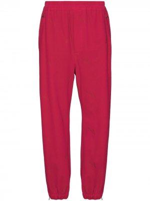 Спортивные брюки с эластичным поясом и кулиской We11done. Цвет: розовый