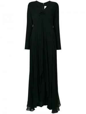 Расклешенное удлиненное коктейльное платье William Vintage. Цвет: черный