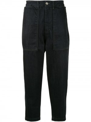 Зауженные брюки SONGZIO. Цвет: синий