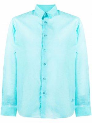 Рубашка на пуговицах Vilebrequin. Цвет: синий