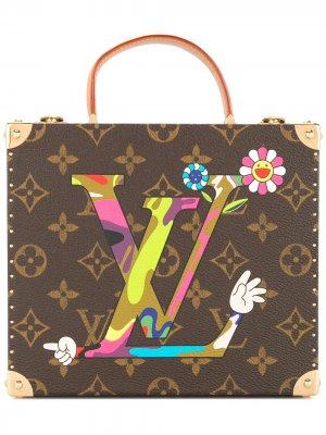 Сундук мини с узором монограммами Louis Vuitton. Цвет: коричневый