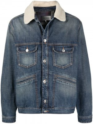 Faded denim jacket Isabel Marant. Цвет: синий