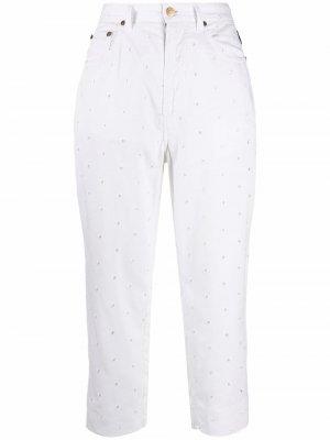 Укороченные брюки 1990-х годов Versace Pre-Owned. Цвет: белый