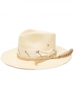Шляпа-федора Pontilla Nick Fouquet. Цвет: нейтральные цвета