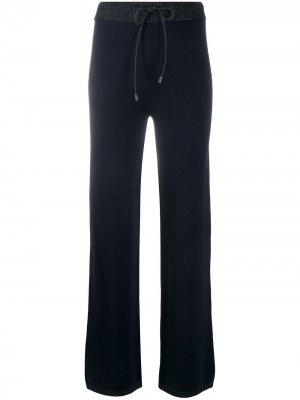 Трикотажные брюки с эффектом металлик Peserico. Цвет: синий