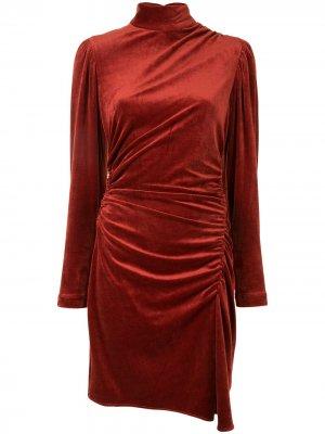 Платье Marcel со сборками A.L.C.. Цвет: красный