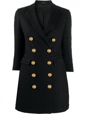 Твидовое пальто Annabelle Tagliatore. Цвет: черный