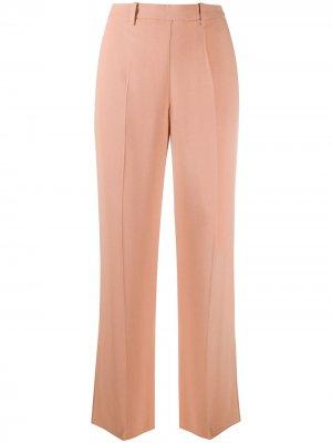 Прямые брюки с завышенной талией Forte. Цвет: розовый