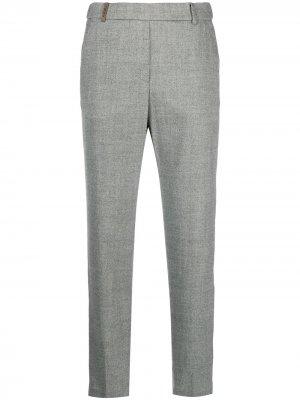 Укороченные брюки Peserico. Цвет: серый