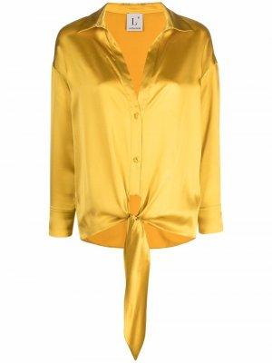LAutre Chose рубашка с перекрученной деталью L'Autre. Цвет: желтый