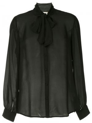 Блузка с завязкой на шее L'agence. Цвет: черный