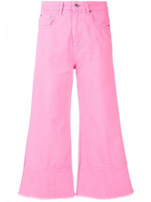 Укороченные расклешенные джинсы MSGM. Цвет: розовый