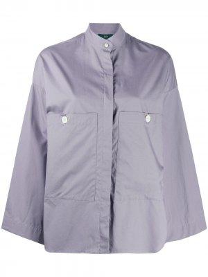 Рубашка с потайной застежкой Jejia. Цвет: серый