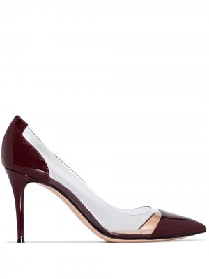 Лакированные туфли-лодочки Plexi 85 Gianvito Rossi. Цвет: красный