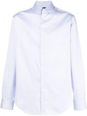 Однотонная рубашка Giorgio Armani. Цвет: синий