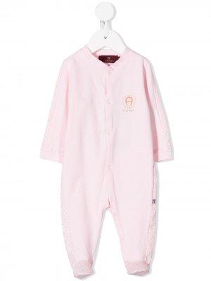Комплект для новорожденного с вышитым логотипом Aigner Kids. Цвет: розовый