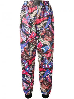 Спортивные брюки с принтом Fiorucci. Цвет: синий