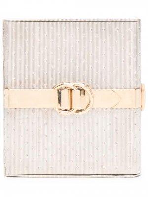 Компактная пудреница 1980-х годов Hermès. Цвет: серебристый