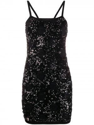 Коктейльное платье с пайетками Philipp Plein. Цвет: черный