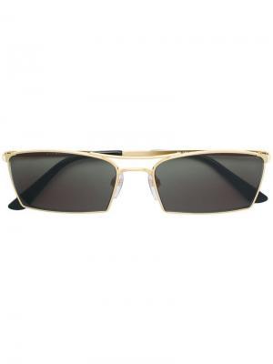 Солнцезащитные очки в прямоугольной оправе Balenciaga Eyewear. Цвет: металлик
