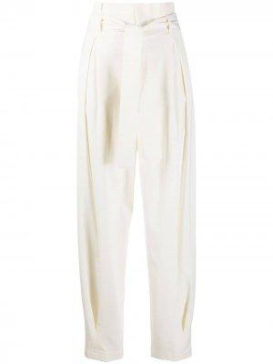 Зауженные брюки с поясом RED Valentino. Цвет: белый