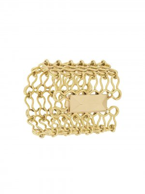 Цепочный браслет-кафф Ellery. Цвет: золотистый