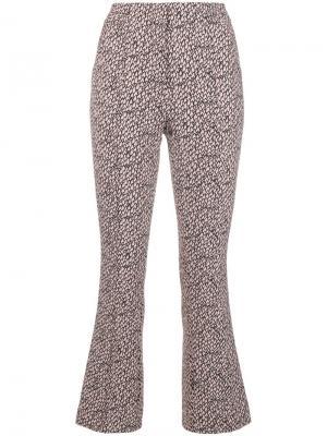 Укороченные брюки узкого кроя с принтом Dorothee Schumacher. Цвет: розовый