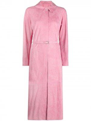 Пальто с поясом Desa 1972. Цвет: розовый