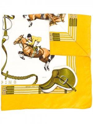 Платок pre-owned с принтом Hermès. Цвет: нейтральные цвета