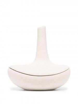 Керамическая шкатулка для украшений Anissa Kermiche. Цвет: белый