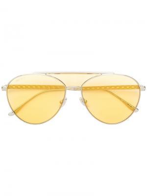 Солнцезащитные очки Ave Jimmy Choo Eyewear. Цвет: золотистый